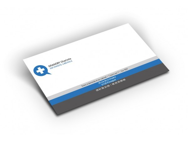 Carte de correspondance de l'infirmière - Modèle Croix
