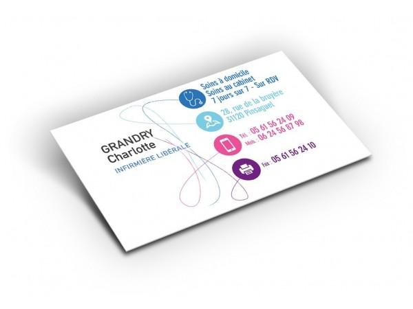 Carte de correspondance de l'infirmière - Modèle Fil